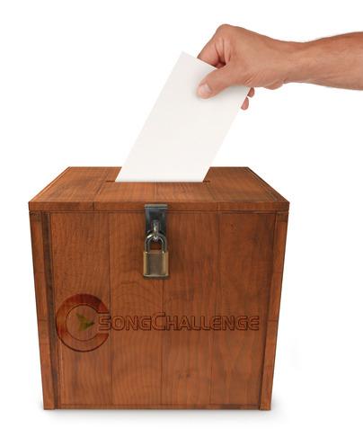 Stimmabgabe mit Wahlurne
