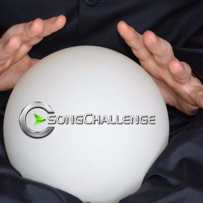 Bild eines Wahrsagers mit einer SongChallenge-Kristallkugel