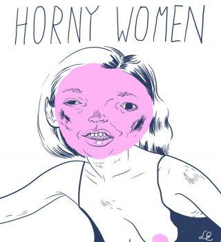 Das Logo der Band Horny Women