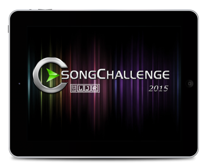 iPad mit SongChallenge logo